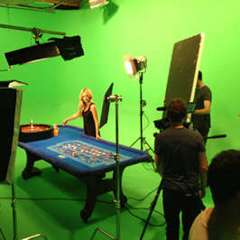 fun casino TV shoot