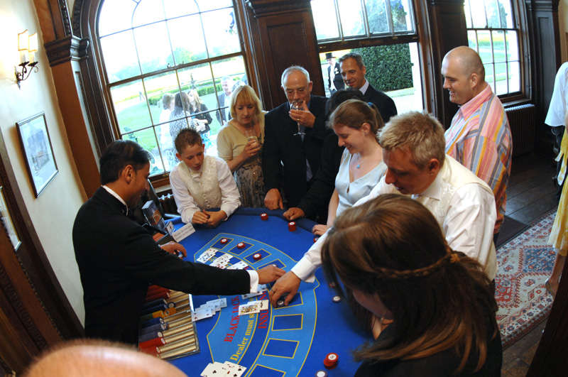 chips being won at casino