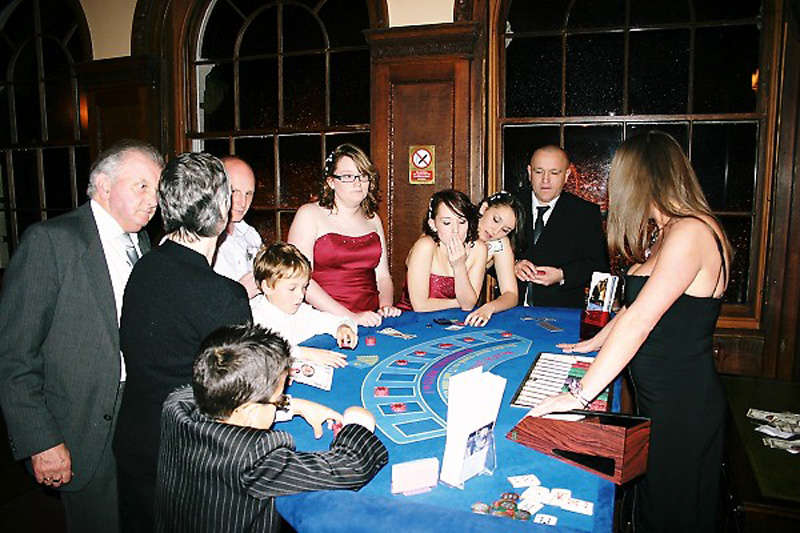 kids and adults at fun casino
