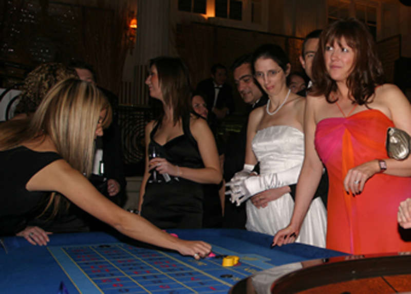 placing chips at event