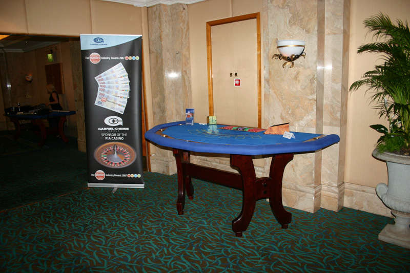 casino table in lounge area