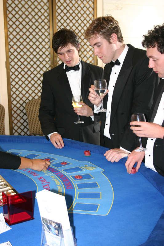 closeup of guys at casino event