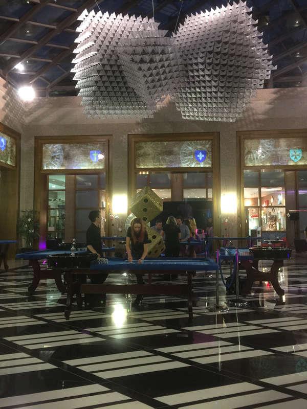 casino setup in hall