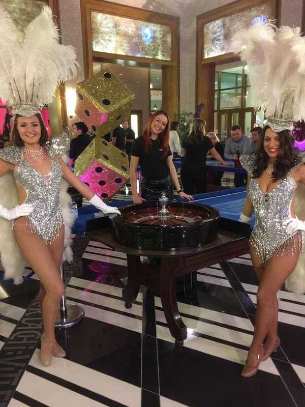silver glittery showgirls