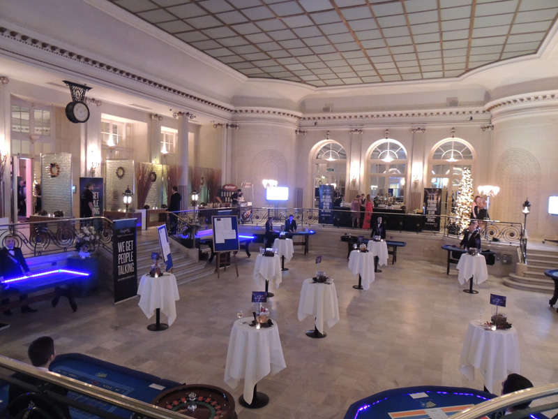 small tables setup at savoy event