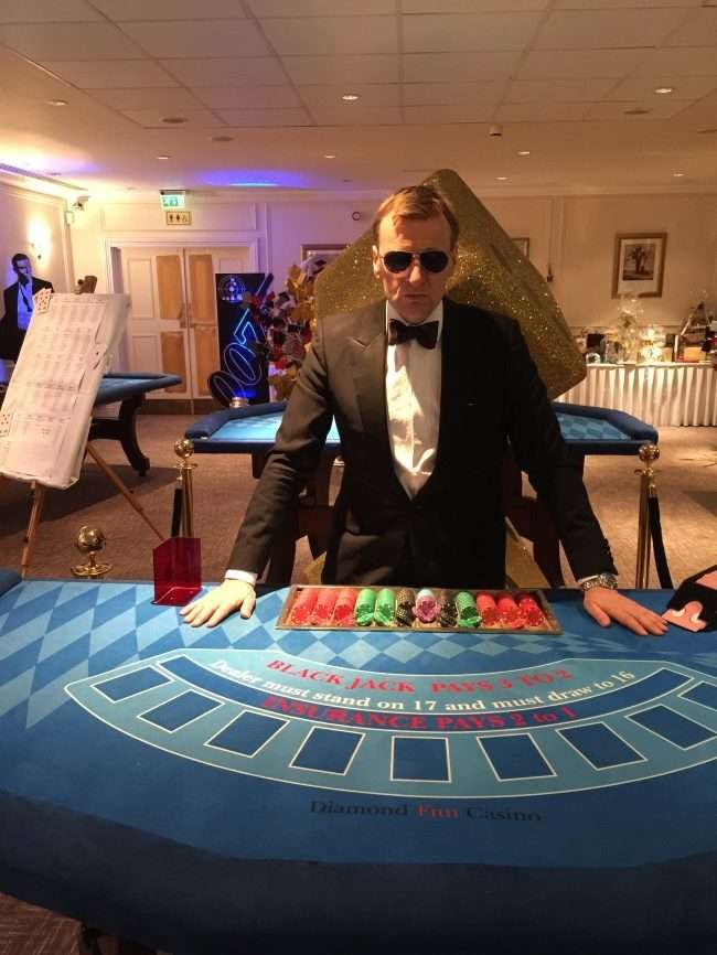 james Bond themed casino hire