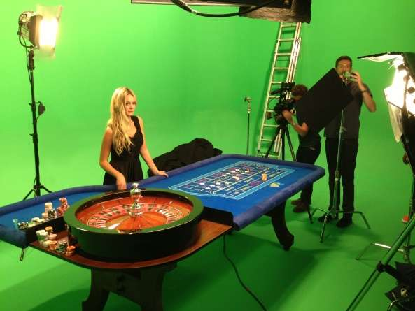 photoshoot with roulette table