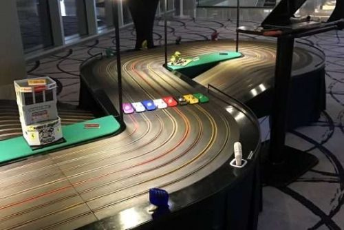8 lane scalextric setup