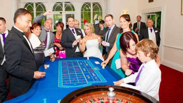 Roulette Table Hire at Wedding