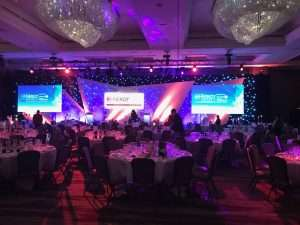 Awards event casino hire at Park Lane London Hilton Hotel