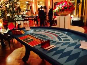 Blackjack and Roulette hire Cafe Royal London