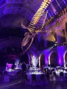 Casino hire corporate event at the Natural History Museum