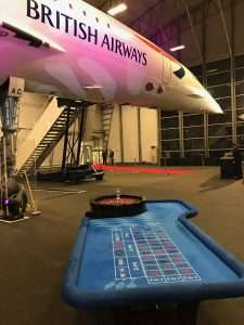 Casino hire team building event in London