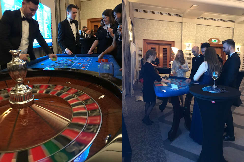 Diamond fun casino hire at the Wave Awards London