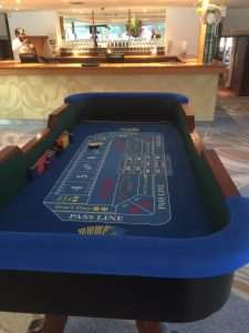 Craps hire at London party