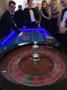 LED illuminated casino hire at the Grand Connaught Rooms in London