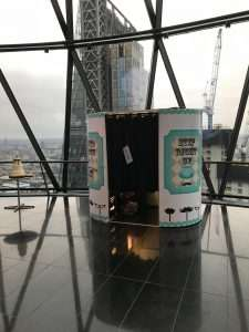 Photo booth hire at the London Gherkin