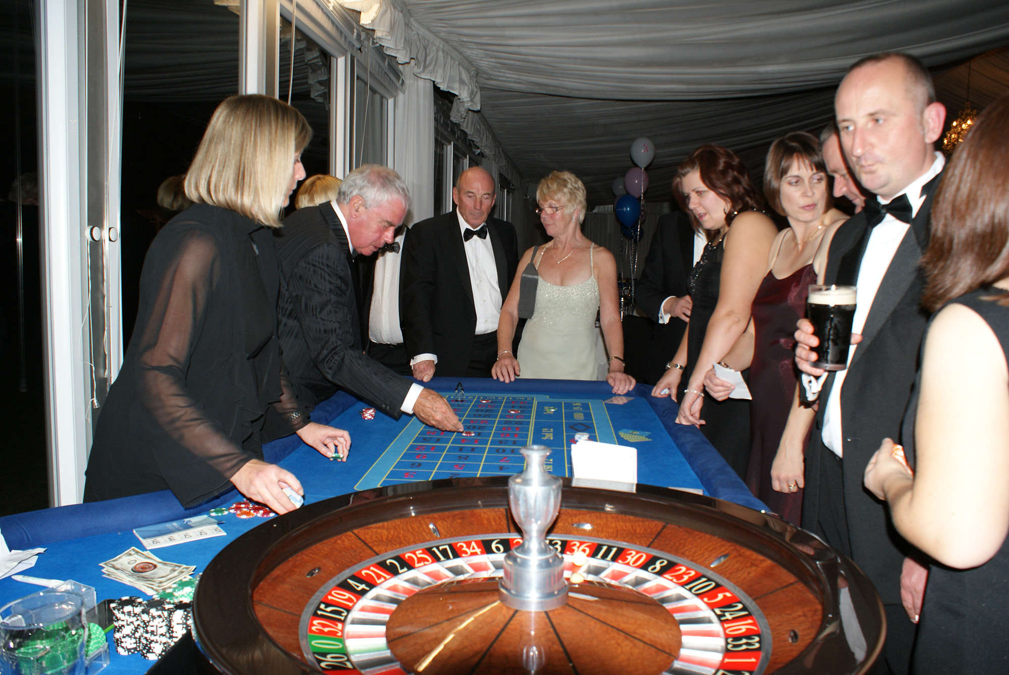 Casino hire at Boreham House in Chelmsford