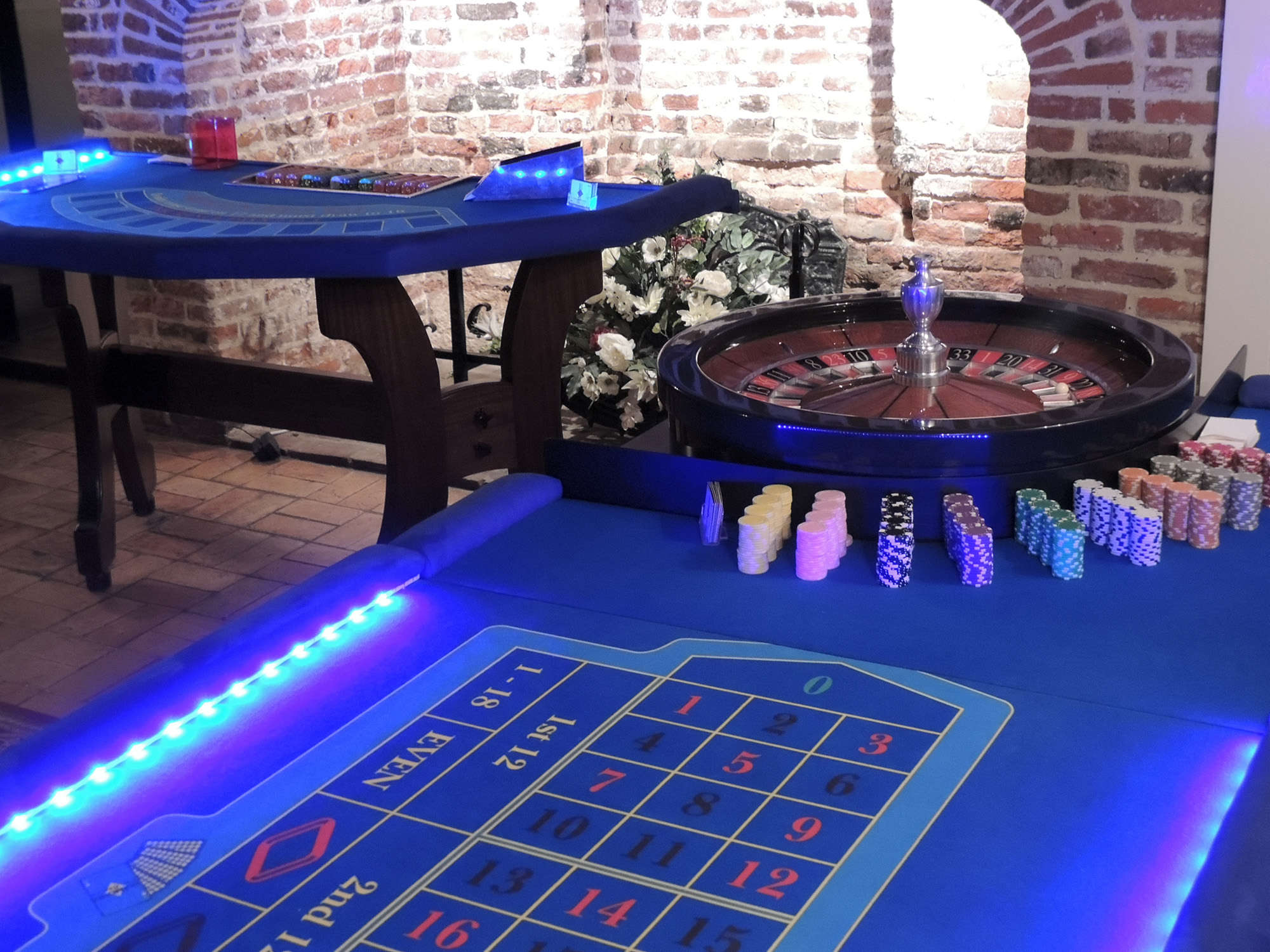 Fun casino hire at Leez Priory, Chelmsford