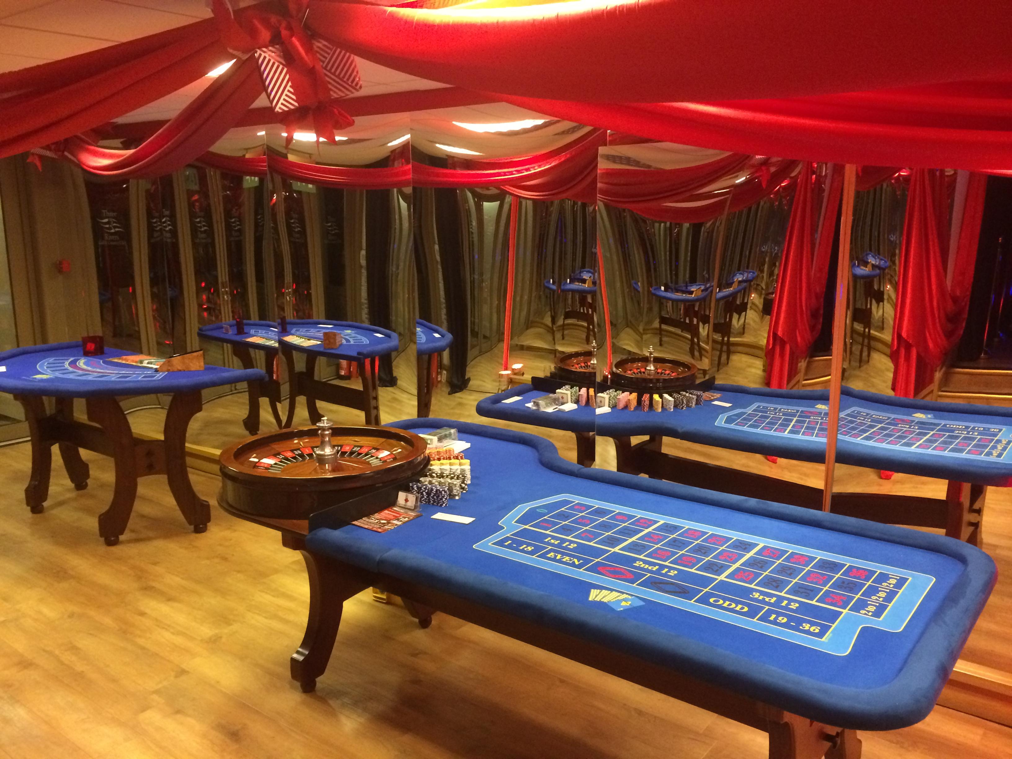 full scale casino setup