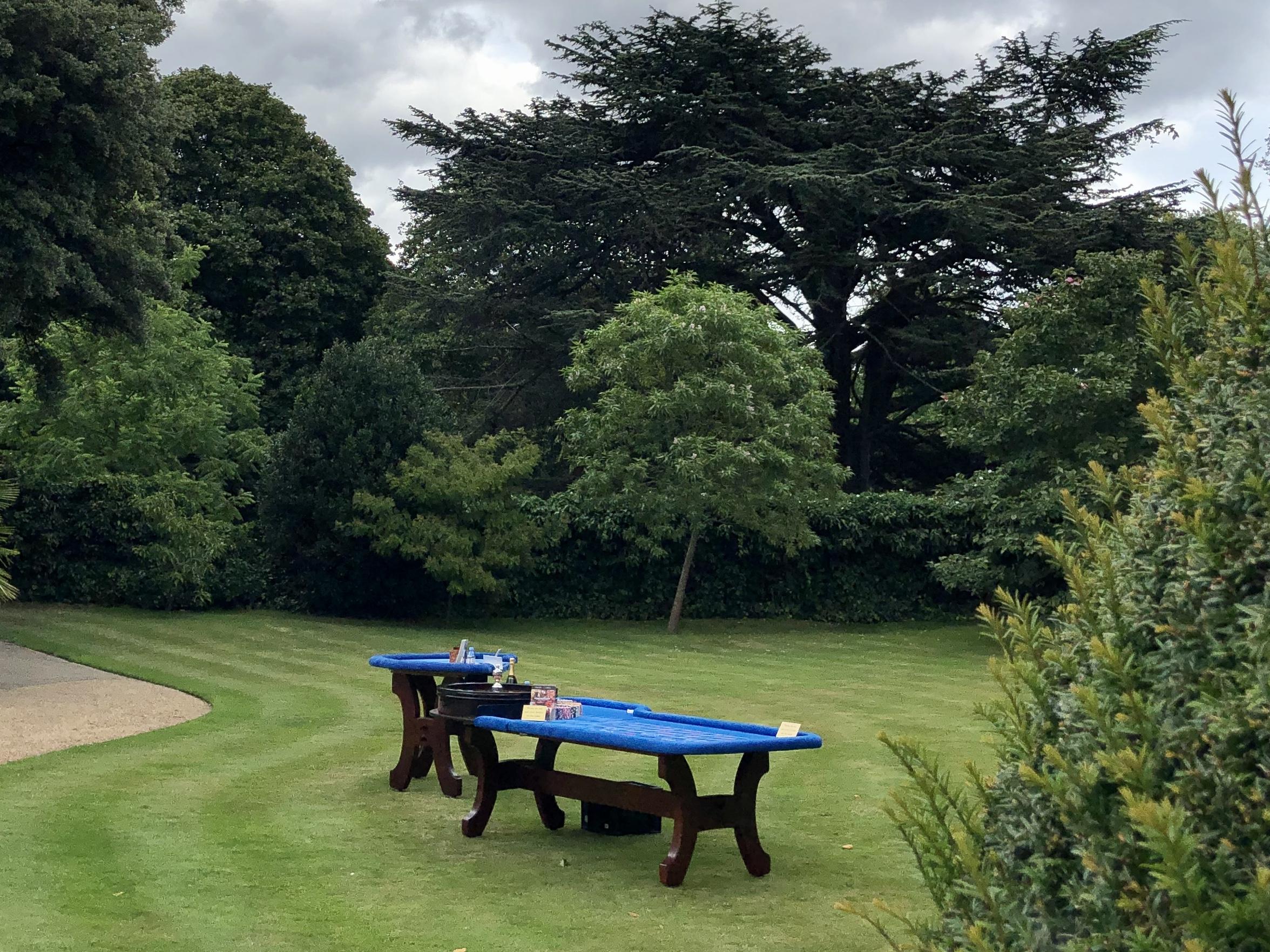 roulette setup in garden